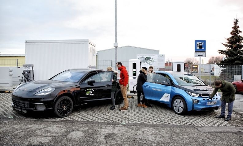Porsche and BMW show off new super fast EV charging station